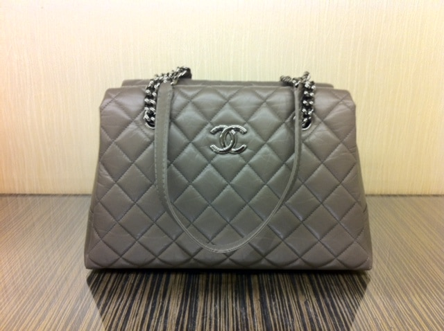 Chanel Grey Lady Pearly Tote Bag 2017