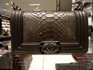 Chanel Grey Python Boy Flap Bag 2012