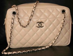 Chanel Light Beige Camera Case Medium Bag 2009