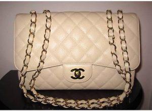 Chanel Light Beige Classic Flap Jumbo Bag 2009