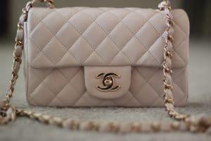 Chanel Light Beige Classic Flap Mini Bag 2012