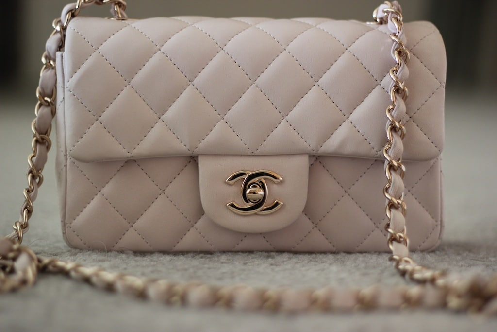 Chanel Light Beige Classic Flap Mini Bag 2017