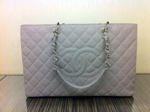 Chanel Light Grey GST XL Bag 2012