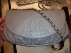 Chanel Light Grey Halfmoon WOC Bag 2012