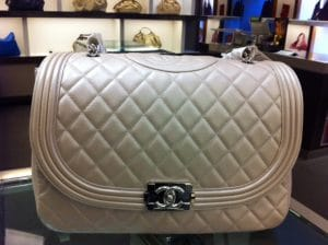 Chanel Light Pink Boy Bag 2012