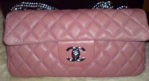 Chanel Pink E/W Classic Flap Bag 2008