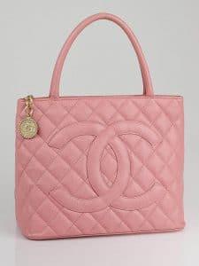 Chanel Pink Medallion Tote Bag 2004