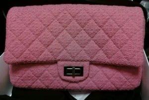 Chanel Pink Tweed Reissue Bag 2009