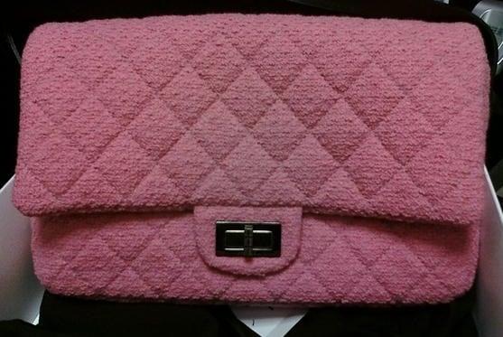 Chanel Bag Pink Chanel Pink Tweed Reissue Bag