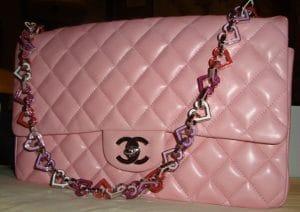 Chanel Pink Valentine Heart Flap Medium Bag 2004