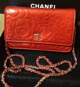 Chanel Red Camellia Wallet On Chain Bag 2011