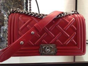 Chanel Red Chateau Boy Bag 2013