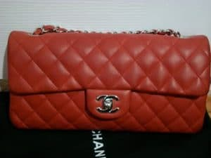 Chanel Red East West Flap Bag 2007