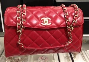 Chanel Red In The Business Tote Bag 2013