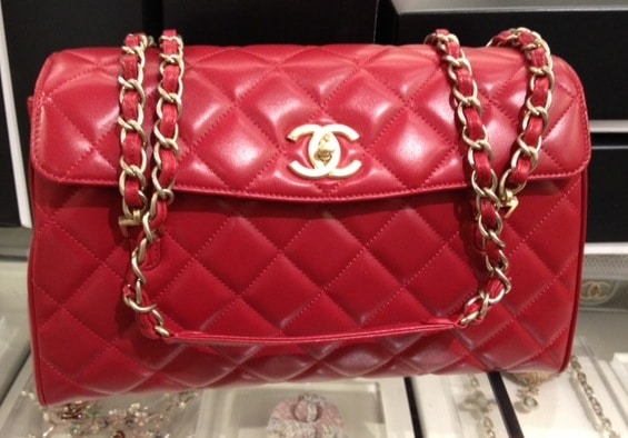 28444b0768a4 Chanel Red In The Business Tote Bag 2013