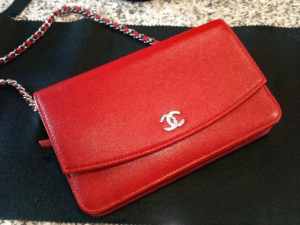 Chanel Red Sevruga Wallet on Chain Bag 2012