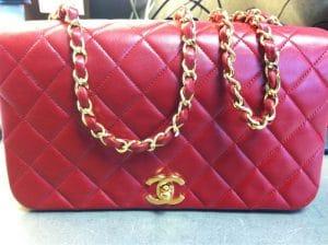Chanel Red Vintage Flap Bag 1989-1991
