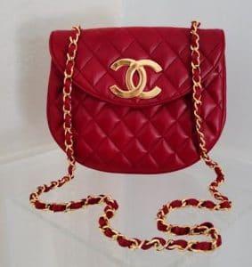 Chanel Red Vintage Messenger Bag 1999-2001