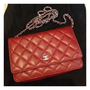 Chanel Red Wallet on Chain Bag 2011