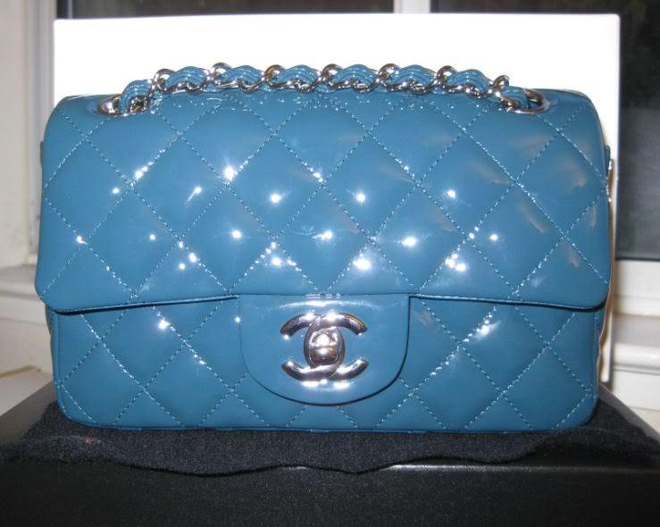 cbe1ae238150fa Chanel Turquoise Patent Classic Flap Mini Bag 2011