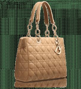 Dior Beige Soft Shopping Tote Bag