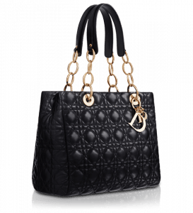 Dior Soft Shopping Tote Bag in black and gold hardware