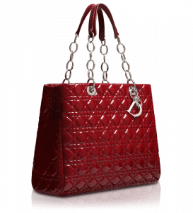 Dior Cherry Red Soft Shopping Tote Bag