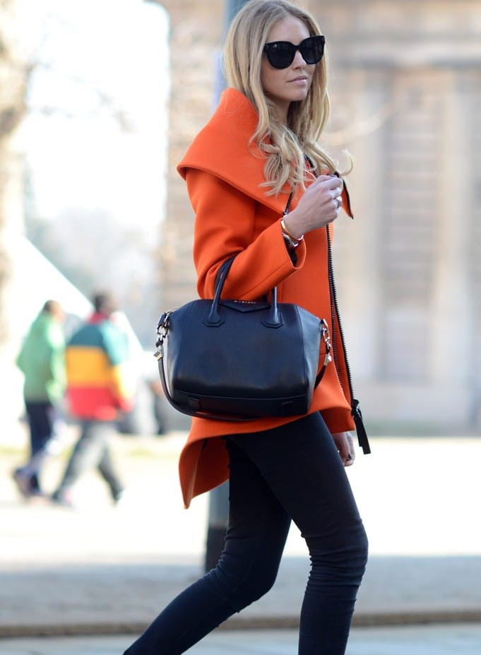 The Blonde Salad: Givenchy Antigona Bag and Scuba jacket