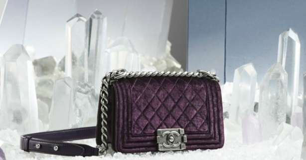 Chanel Purple Velvet Boy Bag Chanel Purple Velvet Boy Bag