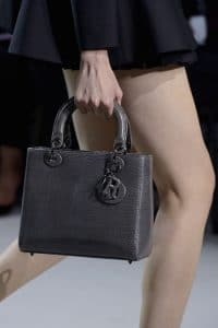 Dior Lady Dior Embossed Grey Bag - Spring 2013