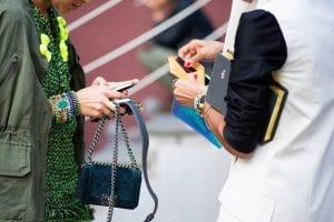 Miroslava Duma with Chanel Boy Velvet Bag