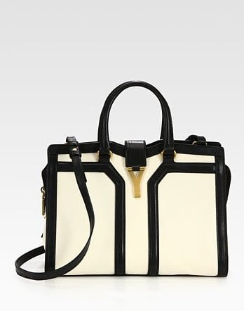 Yves Saint Laurent Black and White Chyc Mini Bag | Spotted Fashion