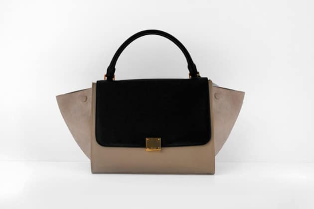 Celine Black Flap with Beige Trapeze Bag \u2013 Winter 2012 | Spotted ...