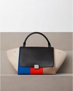 Celine Multicolor Canvas Trapeze Bag Winter 2012
