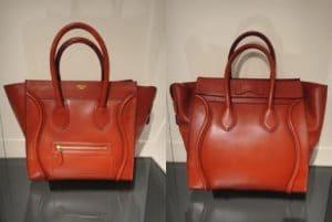 Celine Red Palmelato Mini Luggage Bag