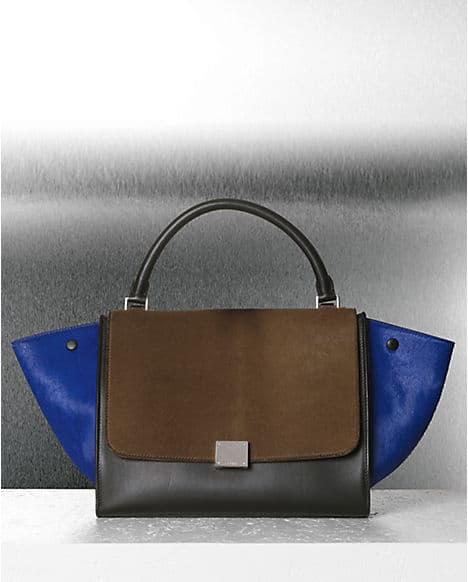 Celine Royal Blue Multicolor Pony Trapeze Bag Fall 2012