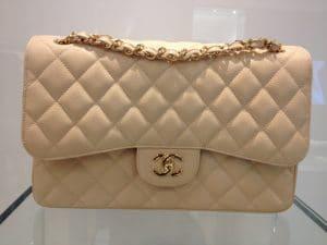 Chanel Beige Classic Flap Jumbo Bag 2013