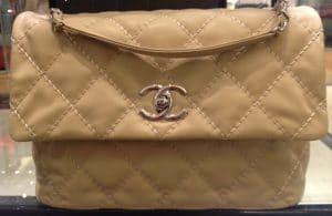 Chanel Beige Love Me Tender Flap Bag 2013