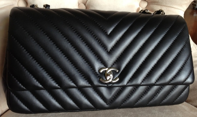 chanel surpique chevron flap bag reference guide spotted