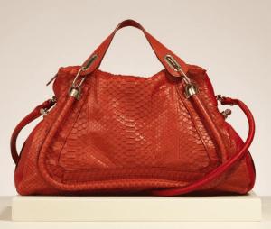 Chloe Red Python Paraty Large Bag