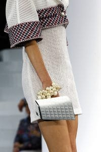 Chanel Silver Quilted Clutch - Spring/Summer Runway 2013