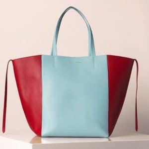 Celine Bicolor Blue and Red Phantom cabas Bag - Summer 2013
