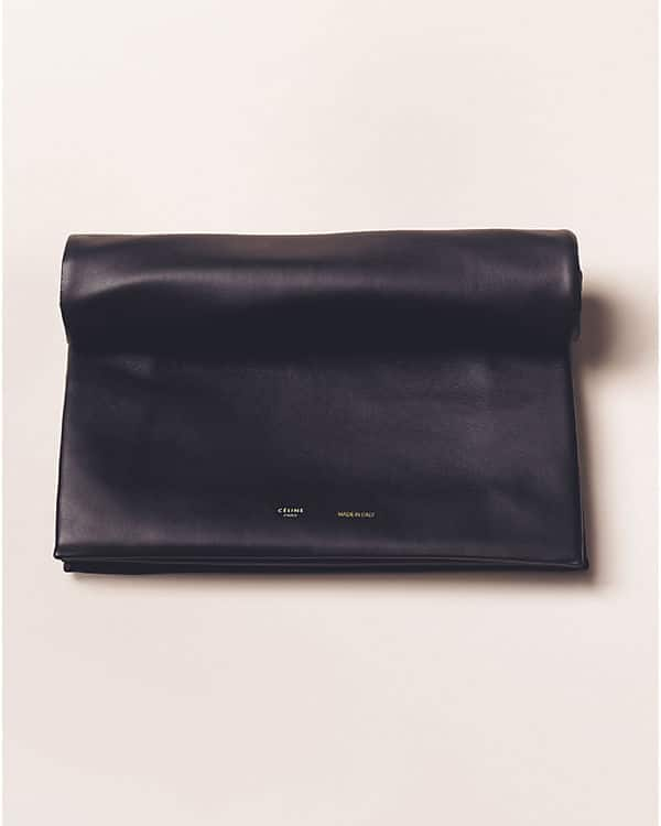 celine black cloth clutch bag
