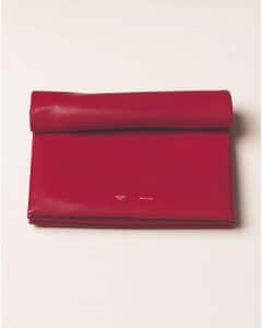Celine Red Soft Trio Clutch Bag - Summer 2013