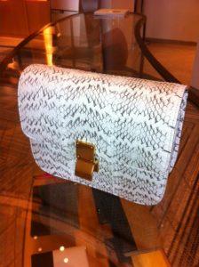 Celine White Box Bag in Whipsnake Python