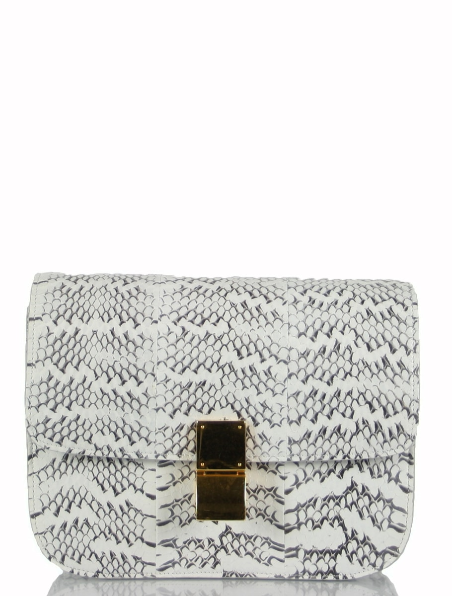 Petra Ecclestone spotted with Celine White Whipsnake Box Bag ...