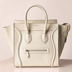 Celine White Mini Luggage Bag - Summer 2013
