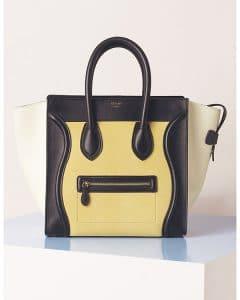 Celine Yellow Lemon Tricolor Mini Luggage Bag - Summer 2013