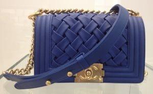 Chanel Blue Chateau Boy Bag 2013