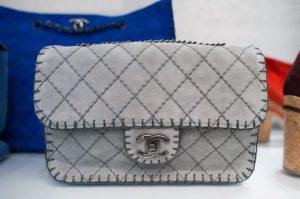 Chanel Grey Mini Flap Bag 2013